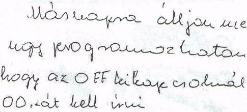 5. ábra: 59 éves nő betegség előtti írása