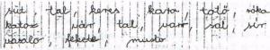 8. ábra: 47 éves férfi írása